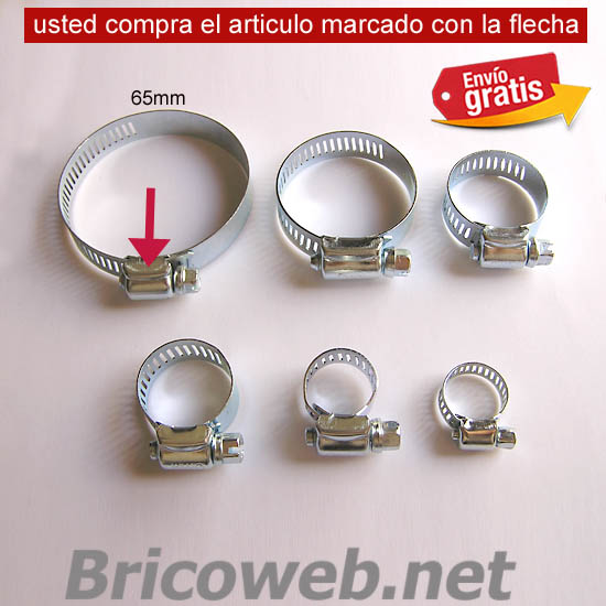 ABRAZADERA METALICA AJUSTABLE 65mm
