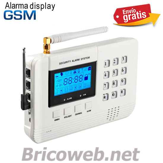 ALARMA GSM INALAMBRICA CON DISPLAY AVISO TELEFONO FIJO Y MOVIL