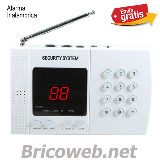 ALARMA INALAMBRICA DISPLAY ROJO 2 DIGITOS CON AVISO TELEFONICO