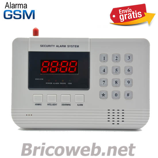 ALARMA GSM INALAMBRICA DISPLAY ROJO 4 DIGITOS AVISO TELEFONICO