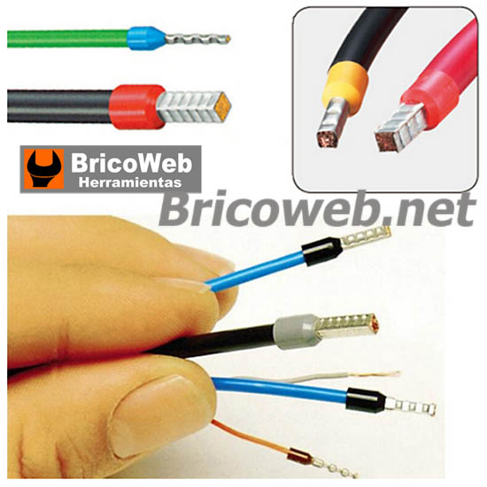 Crimpadora puntera cables electricos bricoweb for Terminales para cables electricos