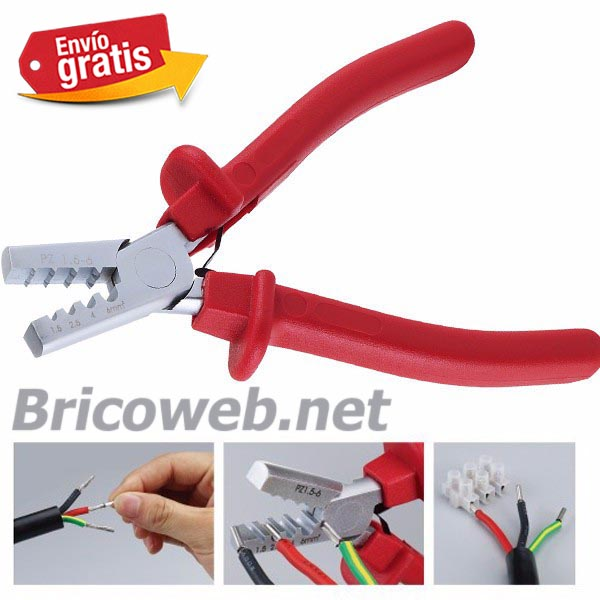 Alicates crimpadora puntera cables electricos bricoweb for Terminales para cables electricos