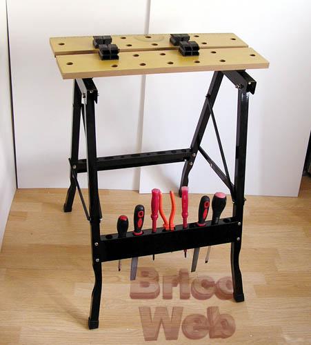 Soportes herramientas bricoweb - Banco trabajo plegable ...