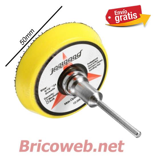 Disco abrasivo velcro para lijar madera 50mm bricoweb - Lija para taladro ...