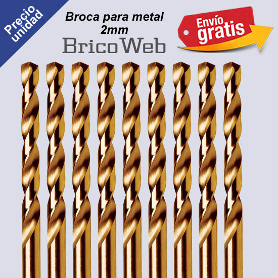 BROCA PARA METAL 02mm