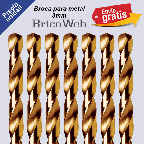 BROCA PARA METAL 03mm