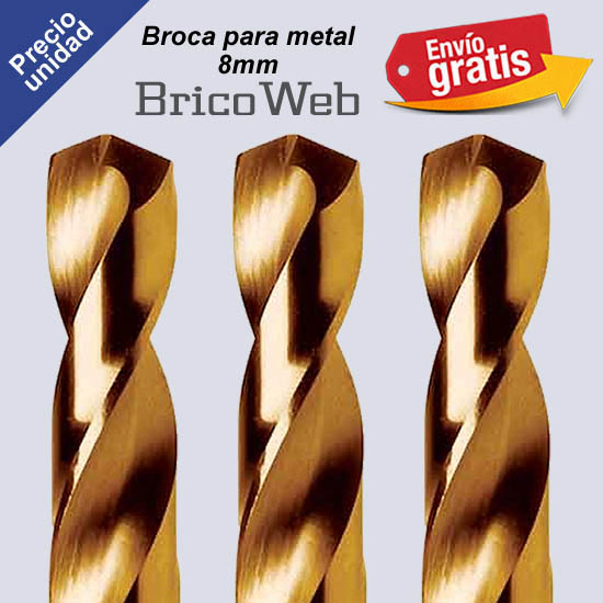 BROCA PARA METAL 08mm