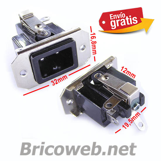 CONECTOR RECTANGULAR RED 220Vca SUPERFICIE DESCONEXION