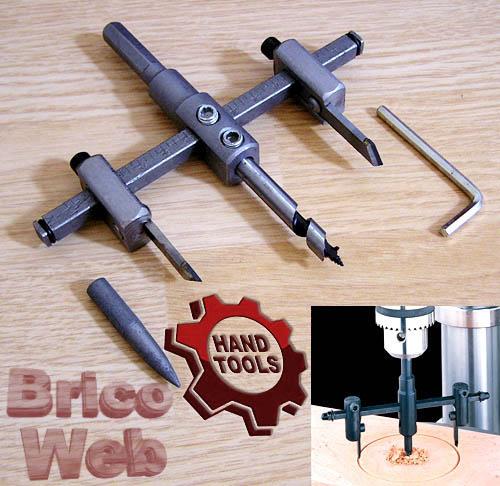 Cortador para taladro ajustable bricoweb - Accesorios para taladro ...