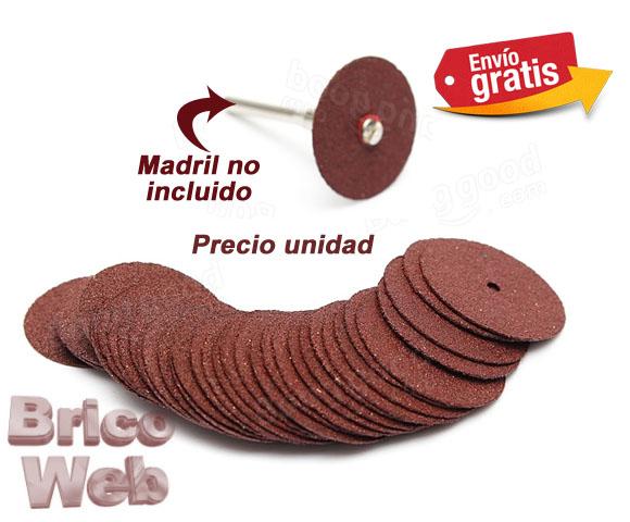 Discos de lija circular para soporte de velcro 25mm grano - Lija para taladro ...