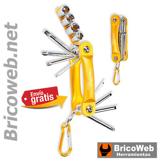 .LLAVE MULTIPLE ALUMINIO AMARILLA PHILLIPS