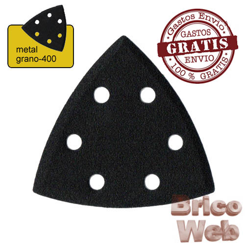 HOJA LIJA TRIANGULAR METAL GRANO 400