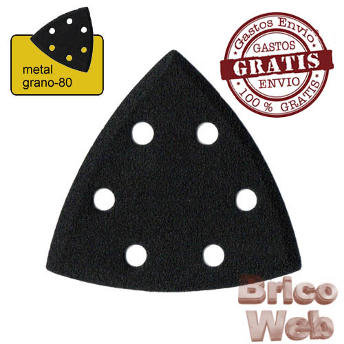 HOJA LIJA TRIANGULAR METAL GRANO 80