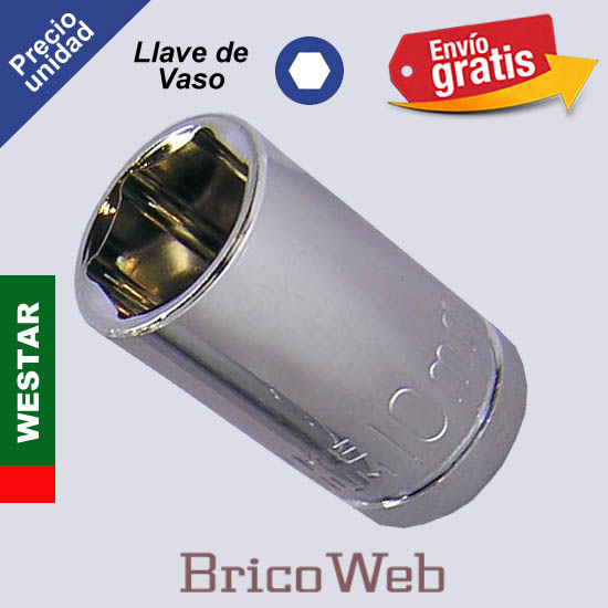 LLAVE DE VASO HEXAGONAL WESTAR 10mm