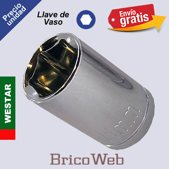 LLAVE DE VASO HEXAGONAL WESTAR 11mm