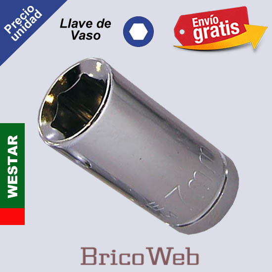 LLAVE DE VASO HEXAGONAL WESTAR 7mm