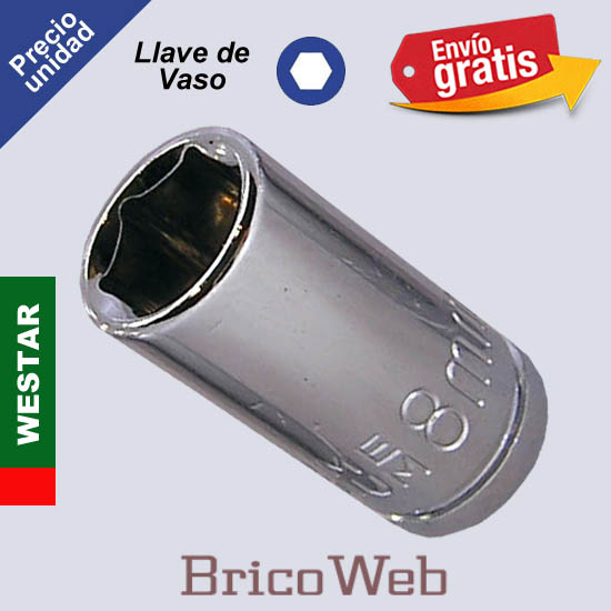 LLAVE DE VASO HEXAGONAL WESTAR 8mm
