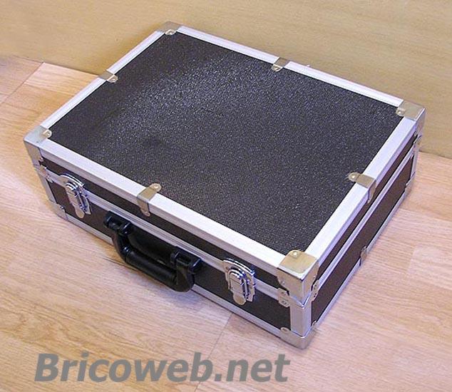Maletin herramientas aluminio negro 470mm bricoweb - Maletin de aluminio para herramientas ...