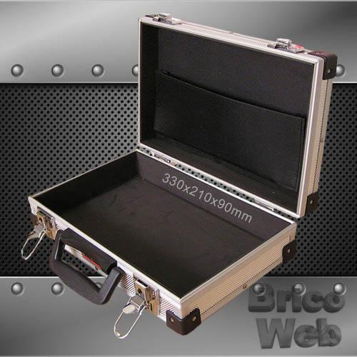 Maletin herramientas aluminio 330mm bricoweb - Maletin de aluminio para herramientas ...