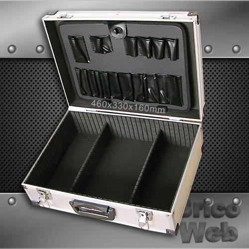 Maletin herramientas aluminio 460mm bricoweb - Maletines con herramientas ...