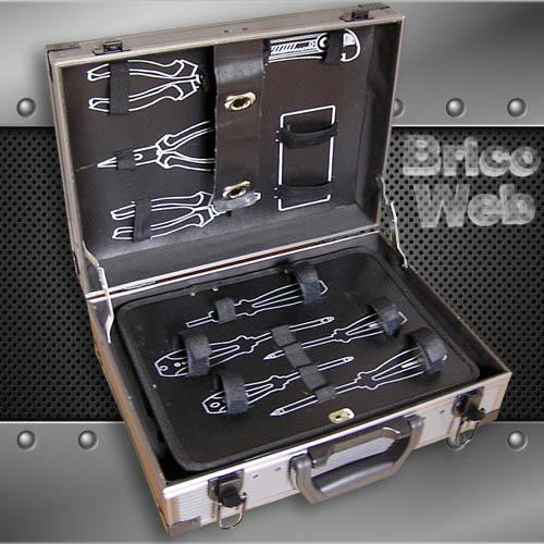 Maletin herramientas aluminio y fibra bricoweb - Maletin de aluminio para herramientas ...