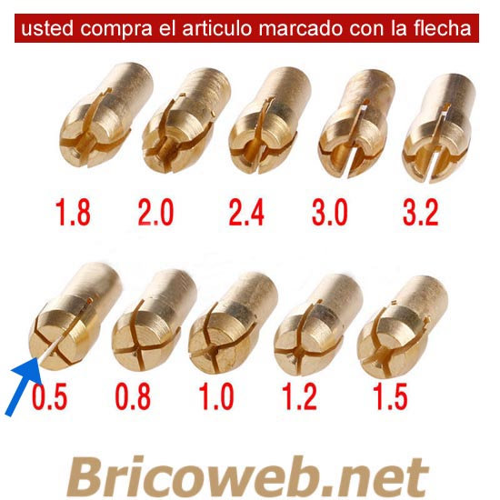 BOQUILLA MINI MANDRIL DIAMETRO 0,5mm