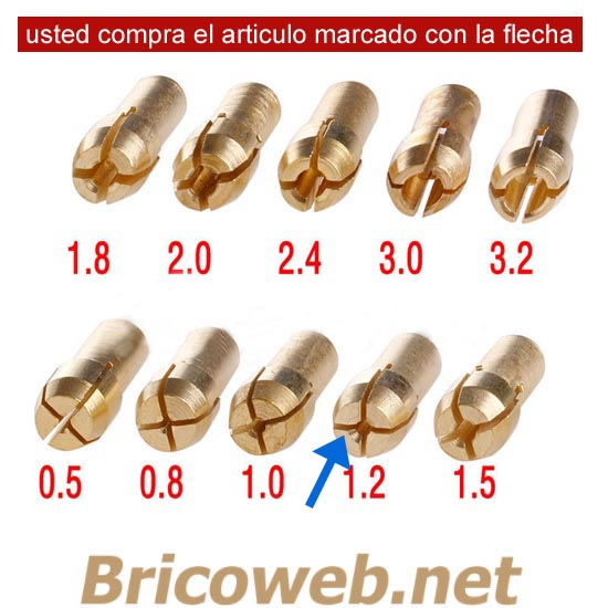 BOQUILLA MINI MANDRIL DIAMETRO 1,2mm