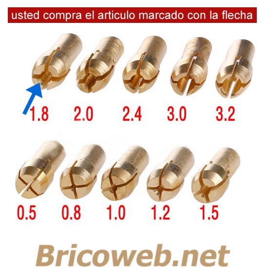BOQUILLA MINI MANDRIL DIAMETRO 1,8mm