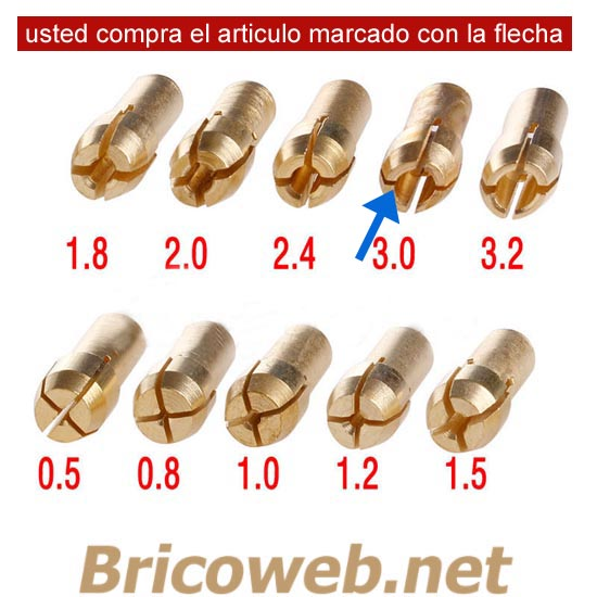 BOQUILLA MINI MANDRIL DIAMETRO 3,0mm