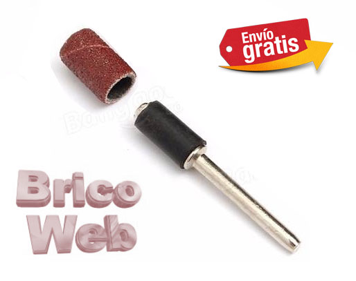 MANDRIL ENGOMADO CON TORNILLO SUPERIOR 7mm