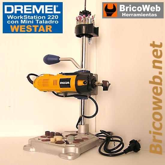 Mini taladro con soporte dremel workstation 220 bricoweb - Herramientas tipo dremel ...