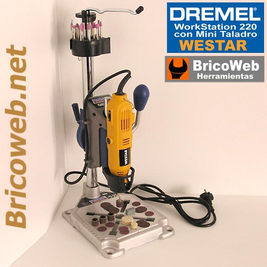 MINI TALADRO CON SOPORTE DREMEL WORKSTATION 220