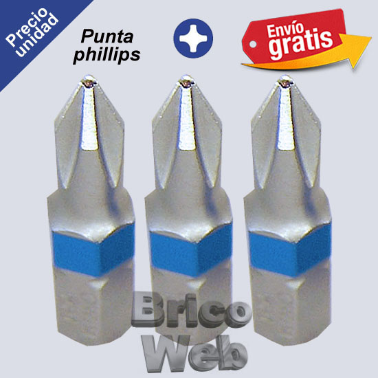 PUNTA DESTORNILLADOR PHILLIPS PH-1
