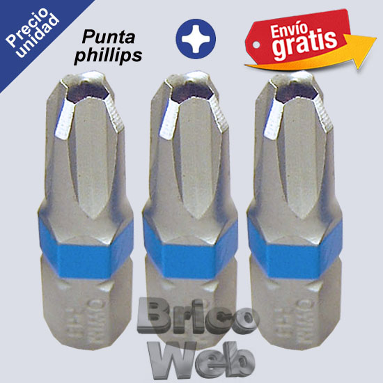 PUNTA DESTORNILLADOR PHILLIPS PH-3