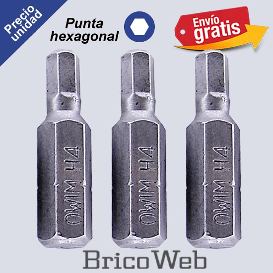 PUNTA DESTORNILLADOR  POWERFIX HEXAGONAL H4