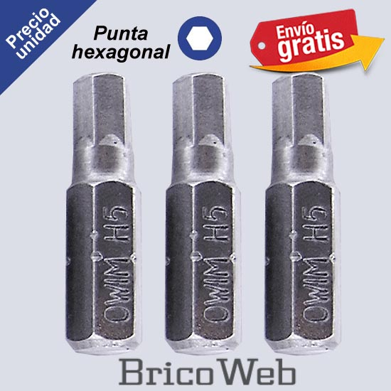 PUNTA DESTORNILLADOR  POWERFIX HEXAGONAL H5