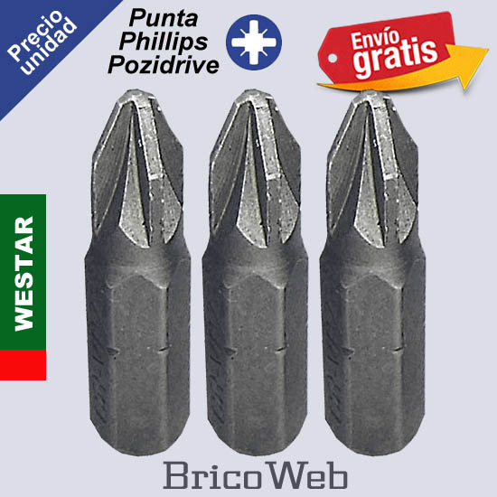 PUNTA DESTORNILLADOR PHILLIPS POZIDRIVE CR-VPZ-2